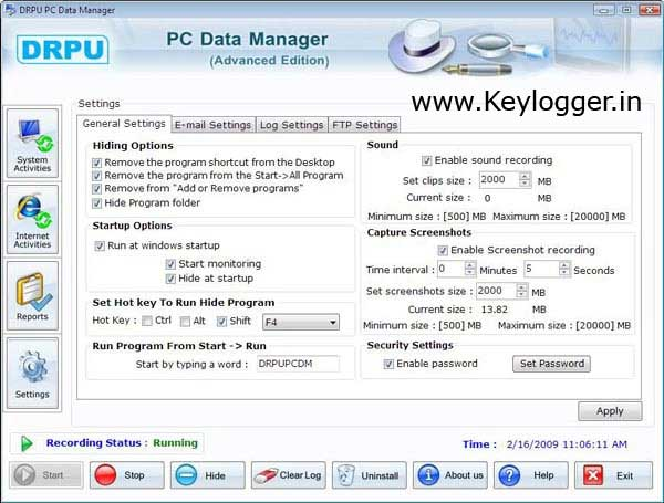 Trace user name and password details from PC