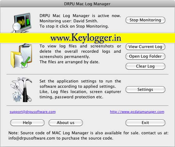 Mac OS X Keylogger screenshot