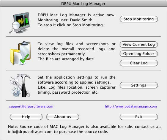 Keylogger Mac screenshot